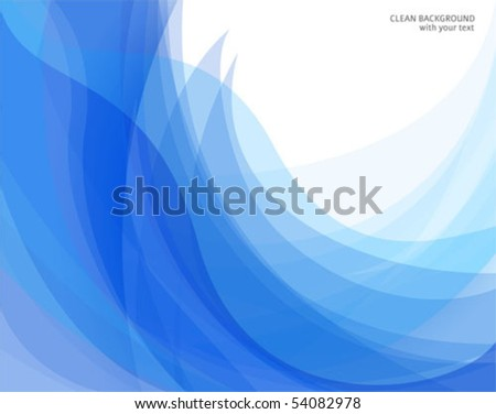 Vector abstract blue and white backgrounds with curve shapes - stock vector