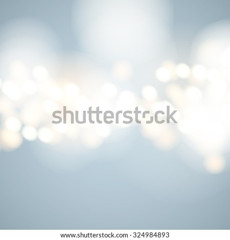 Vector abstract bokeh background. Festive defocused lights. - stock vector
