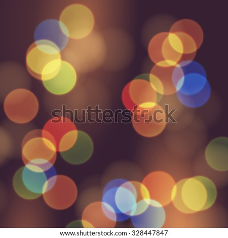Vector abstract bokeh background. Festive unfocused lights. - stock vector