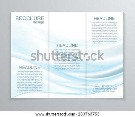 Vector abstract brochure design template. - stock vector