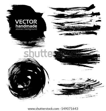 Vector abstract brush strokes paint - stock vector