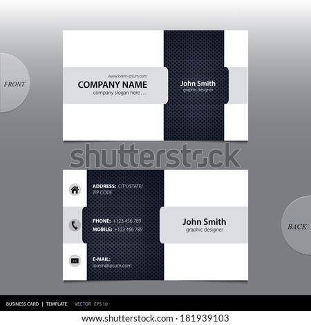 Vector abstract business card.  - stock vector