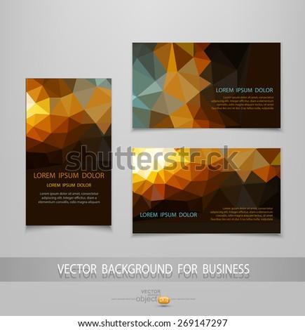vector abstract business card templates - stock vector