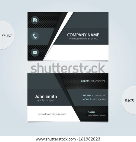 Vector abstract business cards.  - stock vector