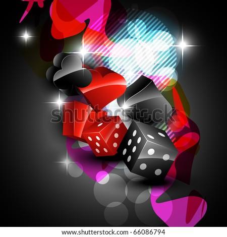vector abstract casino design element - stock vector