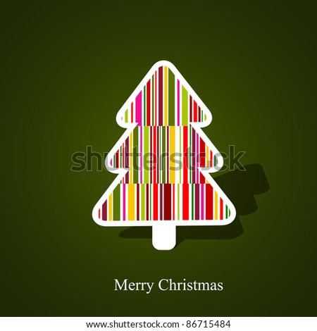 Vector abstract christmas tree - stock vector