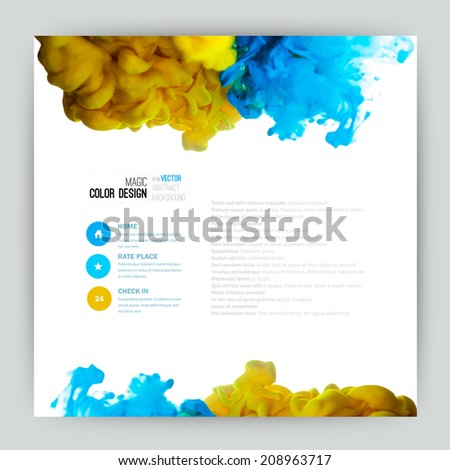 Vector abstract cloud. Ink swirling in water, cloud of ink in water isolated on white. Abstract banner paints. Holi. Liquid ink. Background for banner, card, poster, poster, identity,web design.Juice - stock vector