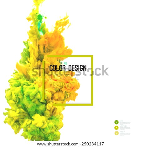 Vector abstract cloud. Ink swirling in water, cloud of ink in water isolated on white. Abstract banner paints. Holi. - stock vector