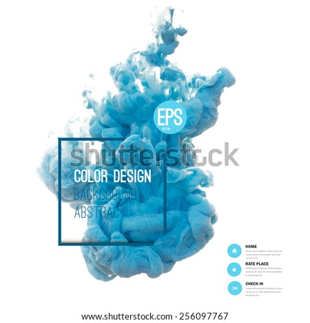 Vector abstract cloud. Ink swirling in water, cloud of ink in water isolated on white. Abstract banner paints. Holi. Liquid ink. Background for banner, card, poster, poster, identity,web design.Juice. - stock vector