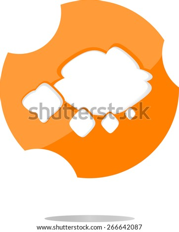vector abstract cloud web icon, button isolated on white - stock vector