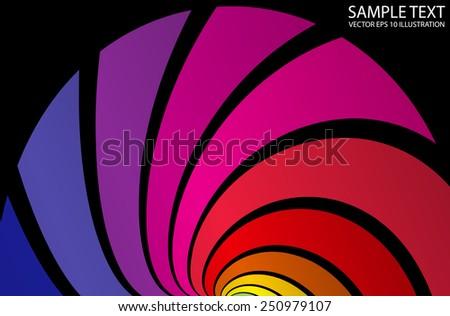 Vector abstract colorful background circular template - Vector color abstract background striped illustration - stock vector