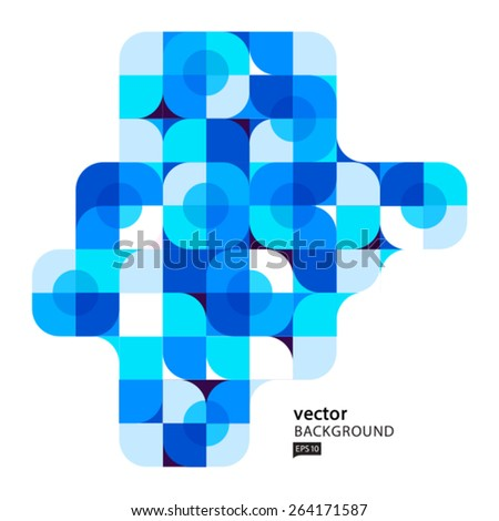 Vector abstract colorful background. Design element - stock vector