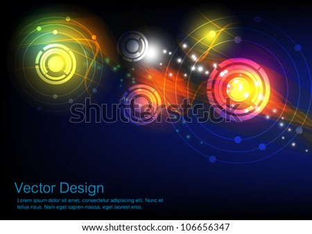 vector abstract communication technology background - stock vector
