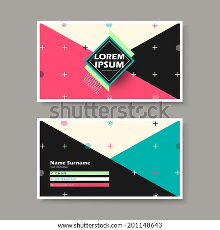 vector abstract creative business card design template of geometry - stock vector