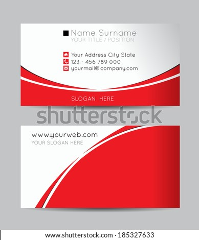 Vector abstract creative business cards - stock vector
