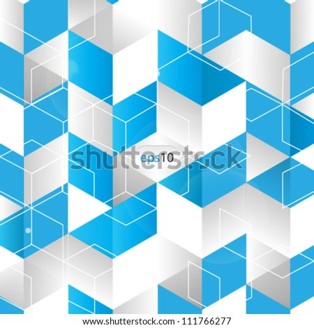 vector abstract 3D cube background - eps10 - stock vector