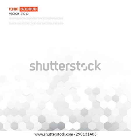 Vector abstract 3d hexagonal. Background with hexagon element - stock vector