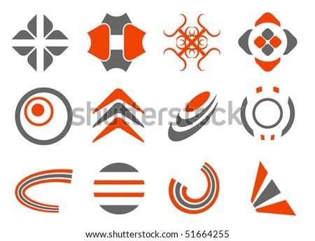 vector abstract design elements set - stock vector