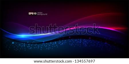 Vector. Abstract elegant waves - stock vector