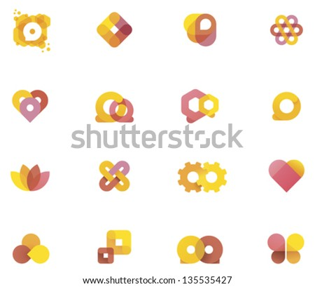 Vector abstract elements - stock vector