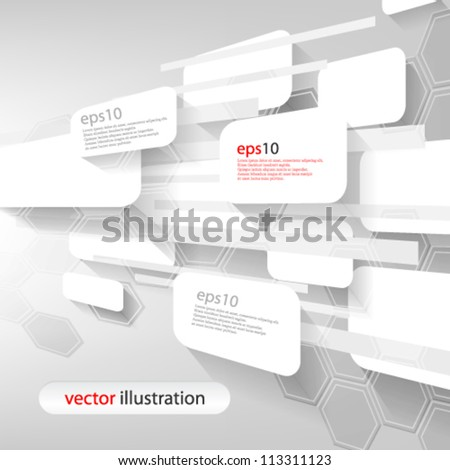 Vector abstract futuristic 3D Geometrical perspective concept illustration - eps10 - stock vector