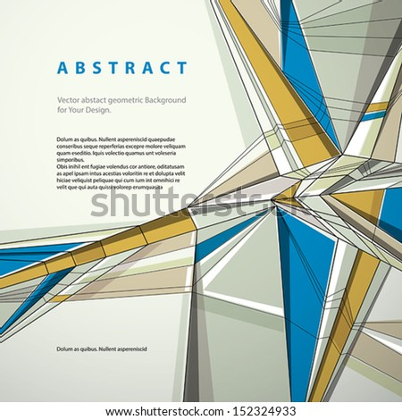 Vector abstract geometric background, contemporary style illustration. - stock vector