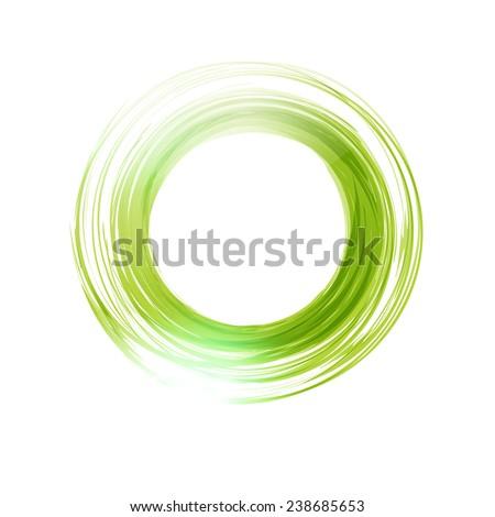 Vector abstract green circle. Banner, flyer or Logo design template  - stock vector