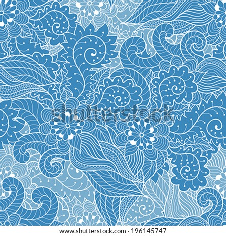 Vector abstract hand drawn ornament - stock vector