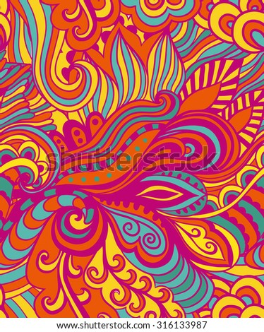 Vector abstract hand-drawn waves texture, wavy background. Colorful waves backdrop. - stock vector