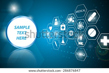 vector abstract health care science medical icon concept background - stock vector