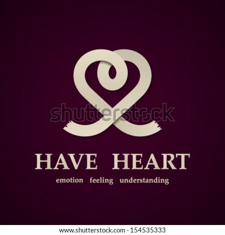 vector abstract heart symbol design template - stock vector