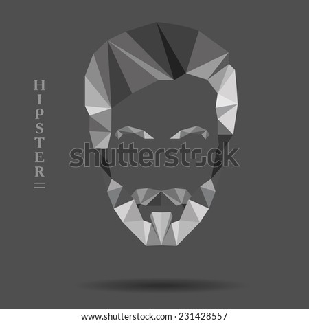 vector abstract hipster created from geometrical shapes - stock vector