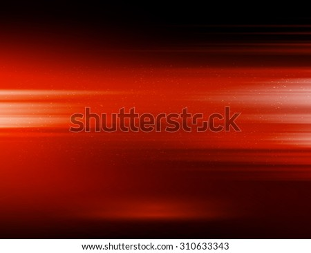 Vector abstract horizontal energy design red color on dark background - stock vector
