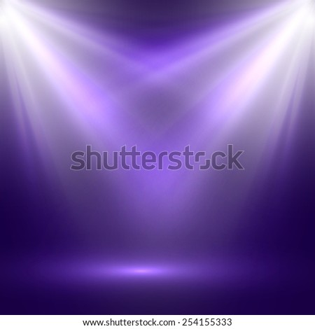 vector abstract illustration of bright stage light rays - stock vector