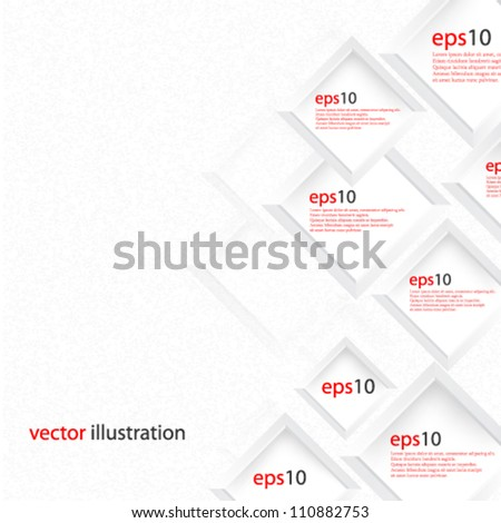 Vector Abstract illustration web design concept background design - eps10 - stock vector