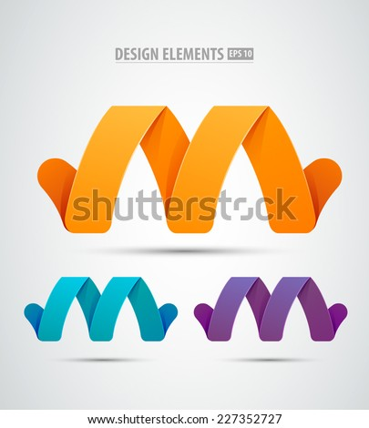Vector abstract infinity design elements. Creative concept icons set. Logo elements - stock vector