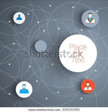 Vector abstract  infographic network template with place for your content. Eps10 vector for your design  - stock vector