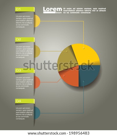 vector abstract interface infographic elements - stock vector