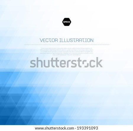 Vector abstract light blue background with subtle geometric texture - stock vector