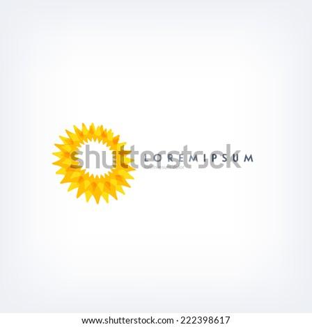 Vector abstract logo design template - stock vector