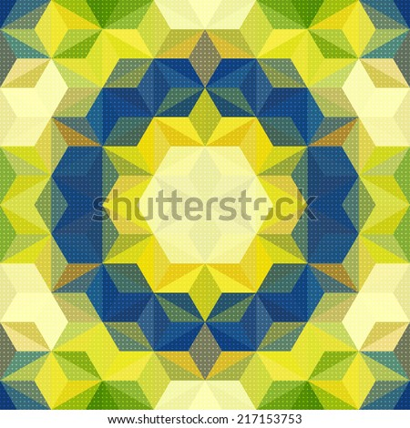 Vector Abstract Mosaic Pattern - stock vector