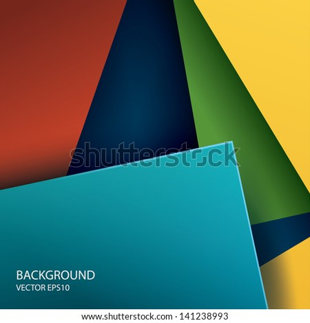 Vector abstract paper square shapes background.  - stock vector