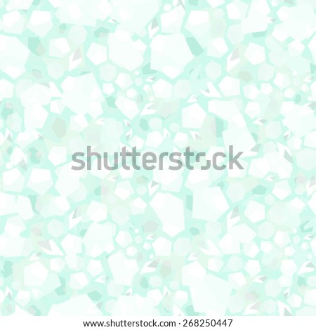 Vector Abstract Petal Falling in Frozen Winter Seamless Background - stock vector