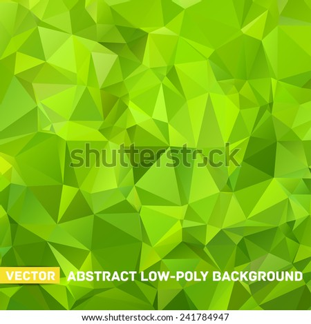 Vector abstract polygonal green background - stock vector