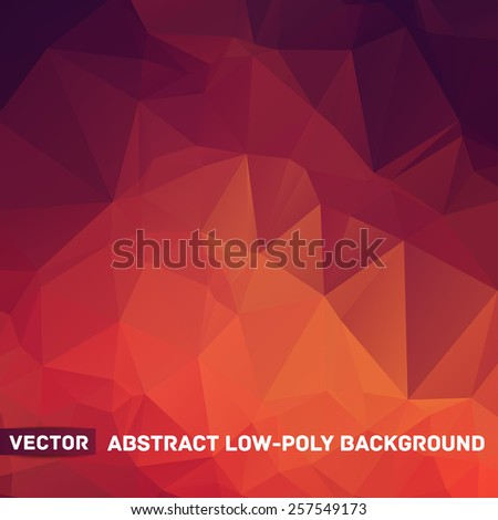 Vector abstract polygonal red background - stock vector