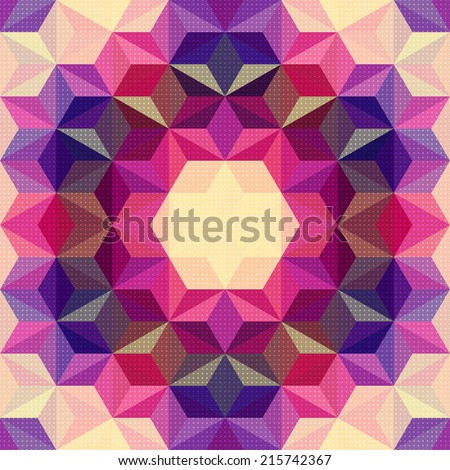 Vector Abstract Psychedelic Pattern - stock vector