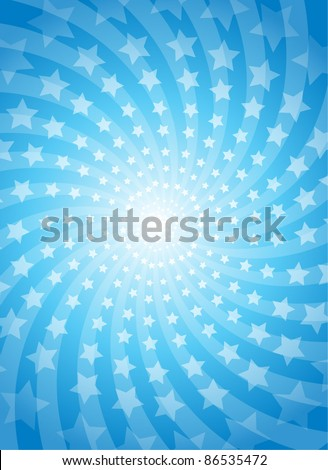 Vector abstract rays and stars background - stock vector