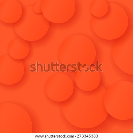 Vector Abstract Red Circle Background. Red Circle Pattern - stock vector