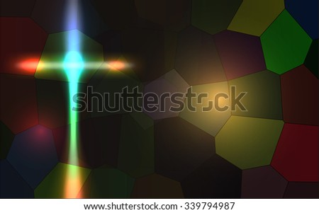 Vector Abstract Religious Background, Eps 10 Vector, Gradient Mesh and Transparency Used, Raster Version Available - stock vector