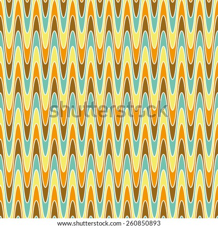 Vector abstract retro pattern. Vintage texture colored. Old background with waves. Retro colors - blue, brown, orange, yellow. Eps 10 vector file.  - stock vector